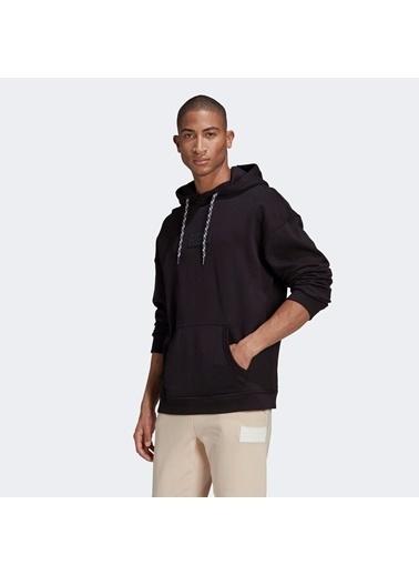 adidas Erkek R.Y.V. Silicon Sweatshirt GN3313.Siyah Siyah